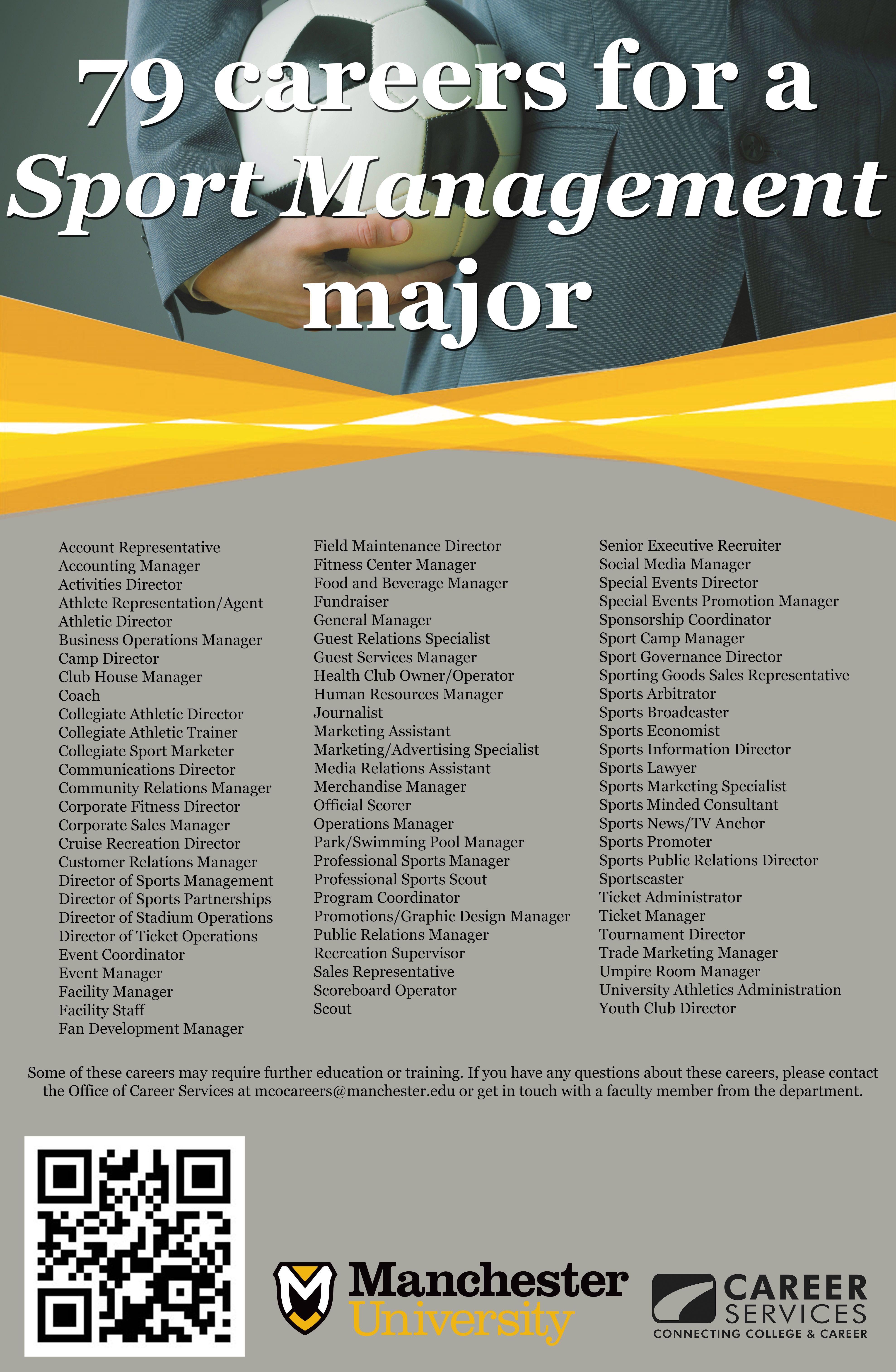 79 Careers For A Sport Management Major Sport Management Major Sport Management Sport Management Career