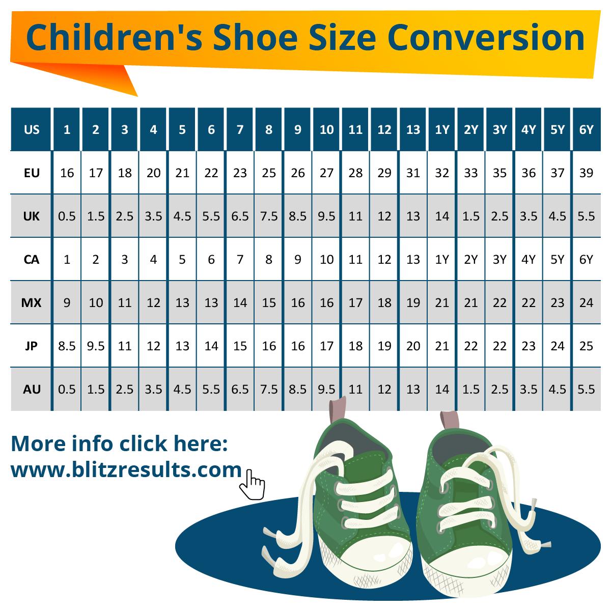 kids shoe size 13 in eu