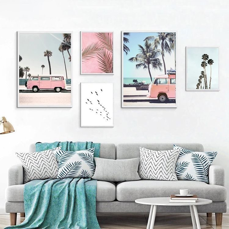 Tranh Canvas Handmade Decor Tiem Nha Nong Instagram Photos And Videos Landscape Wall Art Ocean Wall Art Decorating With Pictures