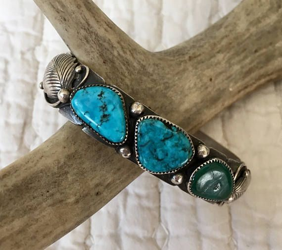 Navajo Sterling Silver and Turquoise Bracelet Cuff