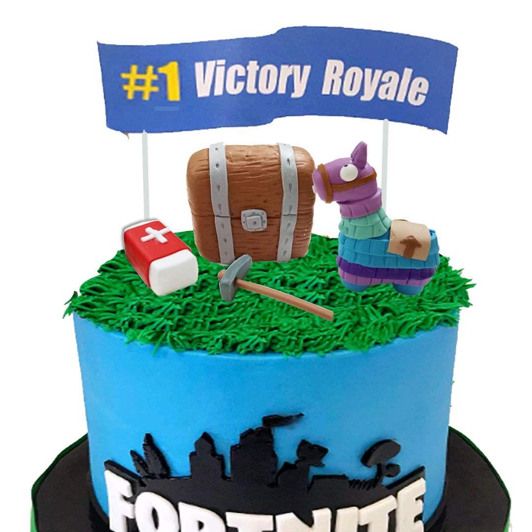 Fortnite cake topper set birthday fortnite cake