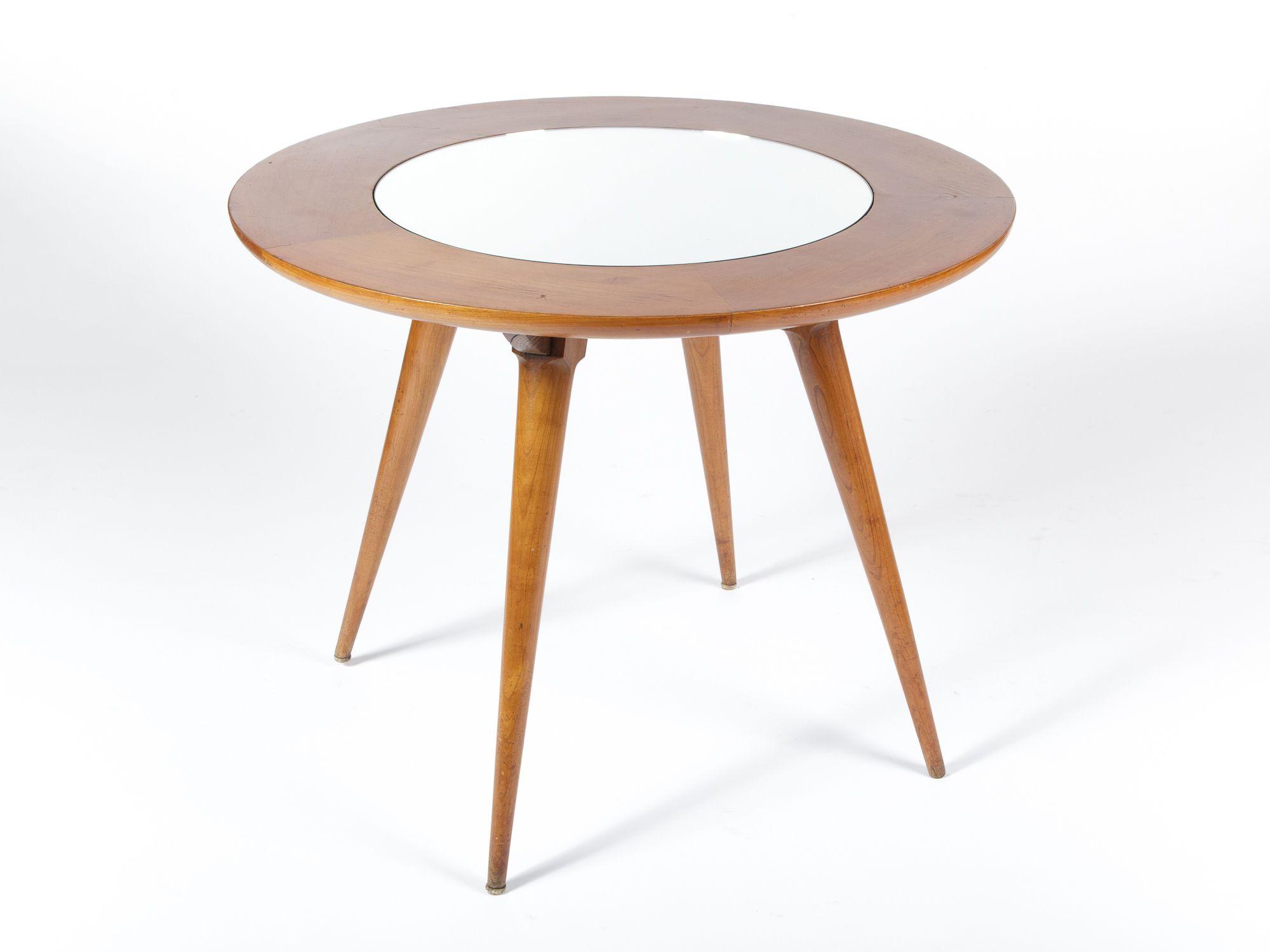Tavolo anni ~ Tavolino in legno e specchio anni 50 collezione tavoli