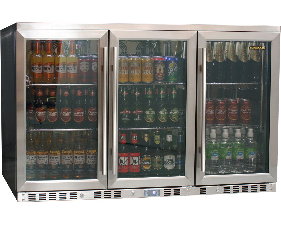 Heated Glass Door All Stainless Steel Bar Fridge No Condensation Under Bench Front Venting All Stainless Steel Integrated Beer Drinks Fridge With Heated Low E