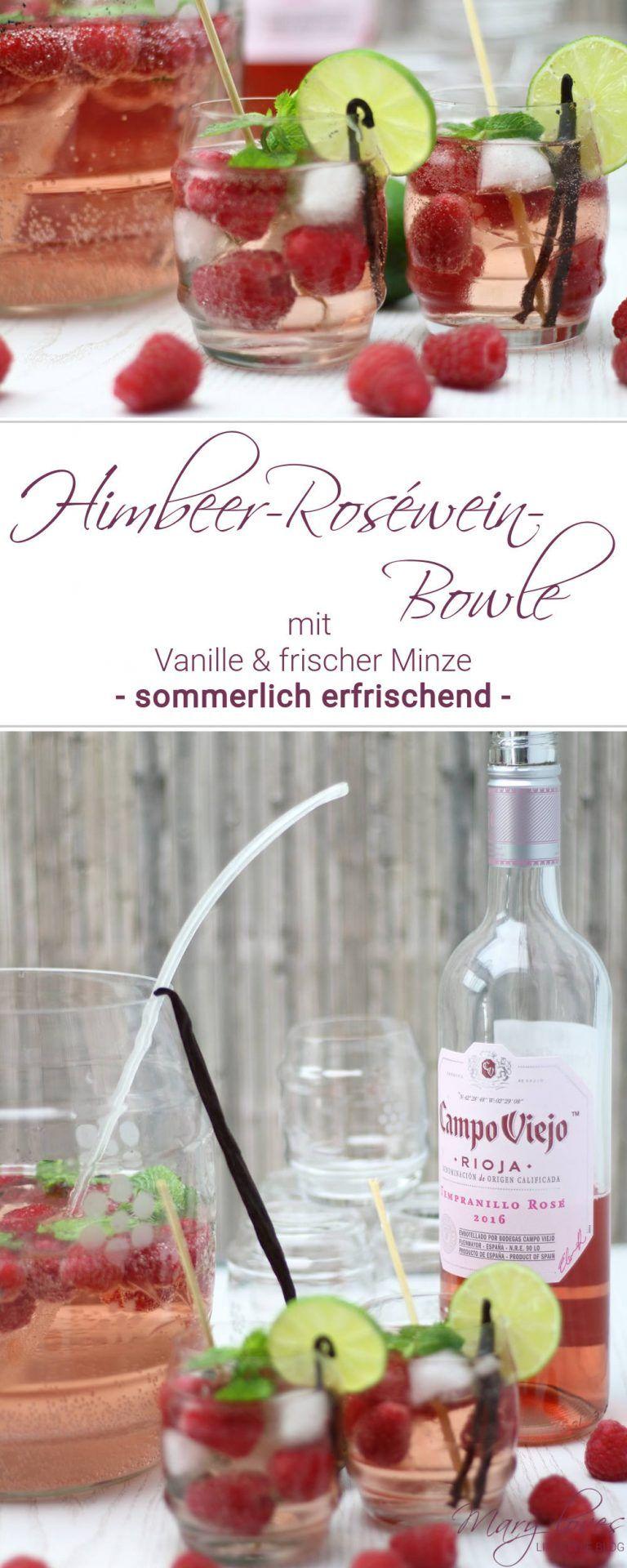 Rioja für Weingenießer: Himbeer-Roséwein-Bowle