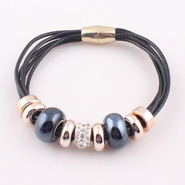 Charming Leather Bracelet