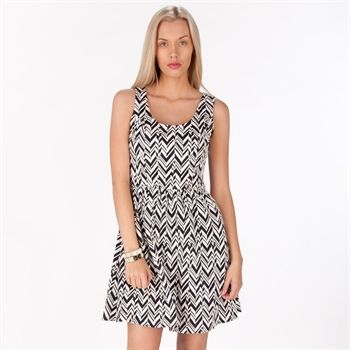 dfefca08f4 Woman · Collective Concepts Women s Contemporary Chevron Striped  Fit-and-Flare Dress