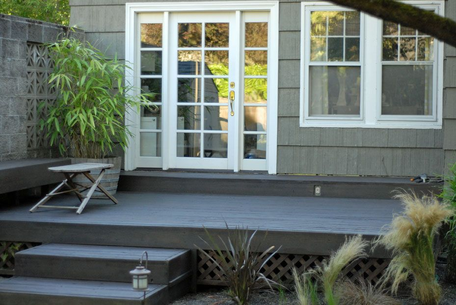 Deck stain color Behr Coffee ST103 Outside flooring