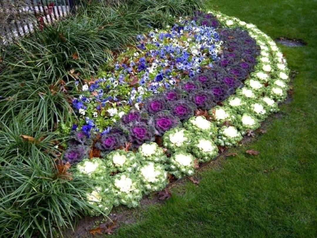 49 Outdoor Garden Decor Landscaping Flower Beds Ideas Small Flower Gardens Winter Flowers Garden Garden Flower Beds