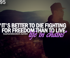 It S Better To Die Fighting For Freedom Than To Live Life In Chains Fight For Freedom Quotes Favorite Quotes