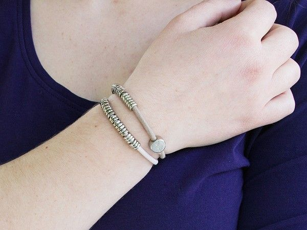 This hair tie bracelet with silver charms f0f3d8ac020