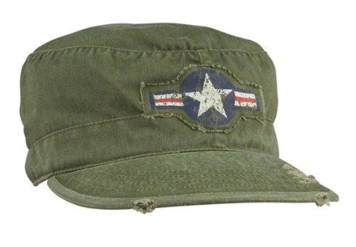 "Vintage Olive Drab ""Army Corp"" Fatigue Cap:Amazon:Clothing    My paternal grandad was in the Army Air Corps, he trained pilots in World War II"