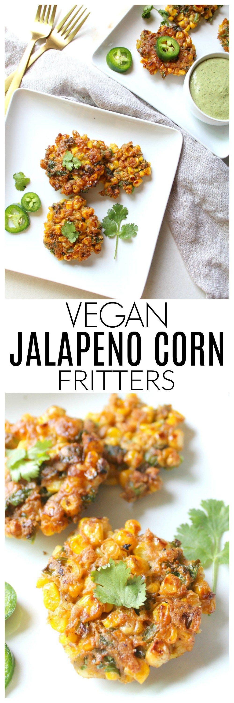 Vegan Jalapeño Corn Fritters