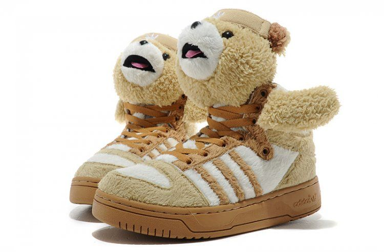 Jeremy Scott Adidas Wings Teddy Bear Brown Shoes  95  eafdf18e4
