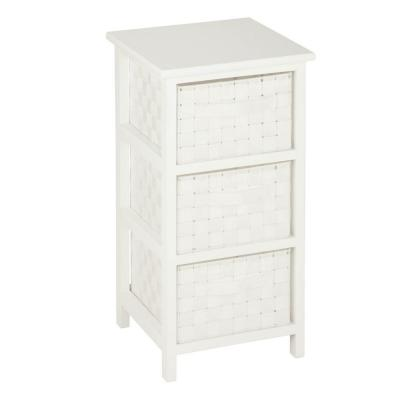 Charmant Honey Can Do 3 Drawer Storage Chest In White OFC 03717