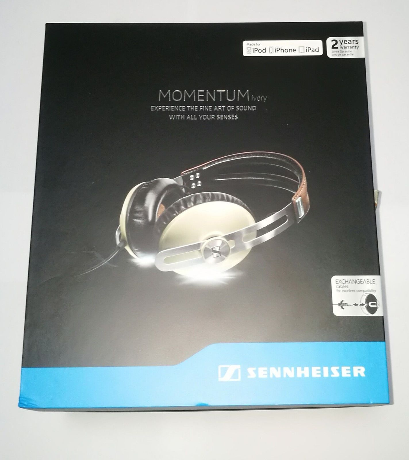 Sennheiser Momentum On Ear Portable Headphones Cream New 2 Year 2i Black Warranty