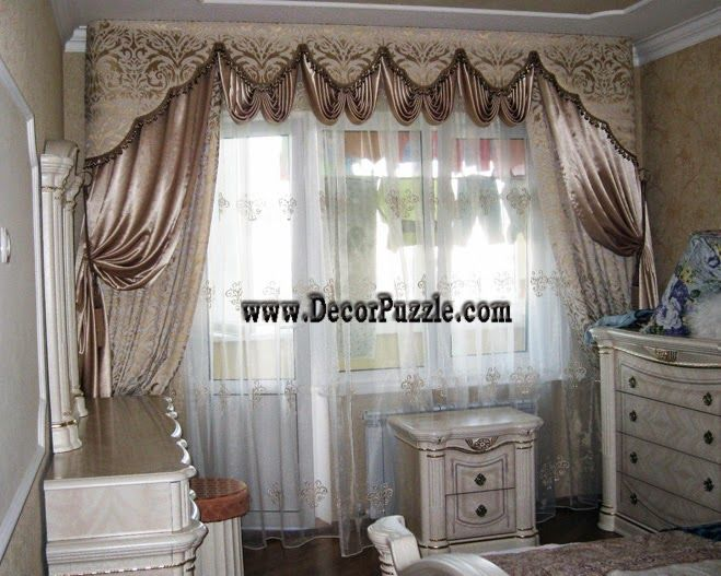 luxury curtains , classic curtains and drapes for bedroom window ...