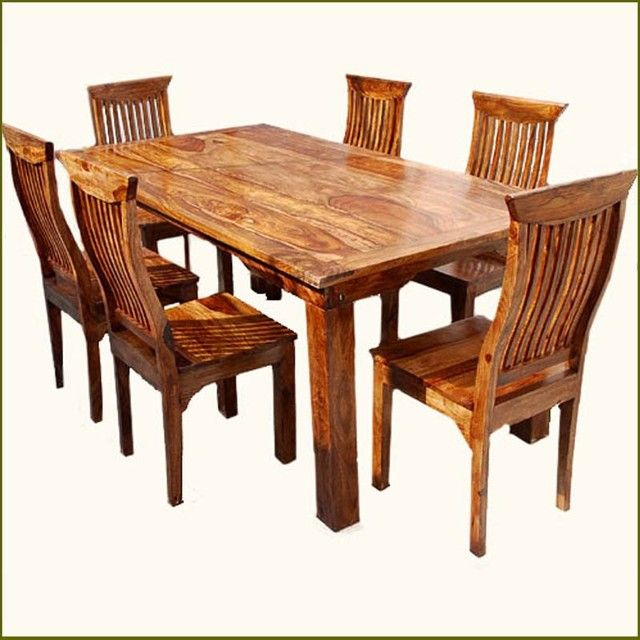 Massivholz Esszimmer Tisch Und Stuhle Rustic Solid Wood Dining Table Rustic Kitchen Tables Rustic Oak Dining Table