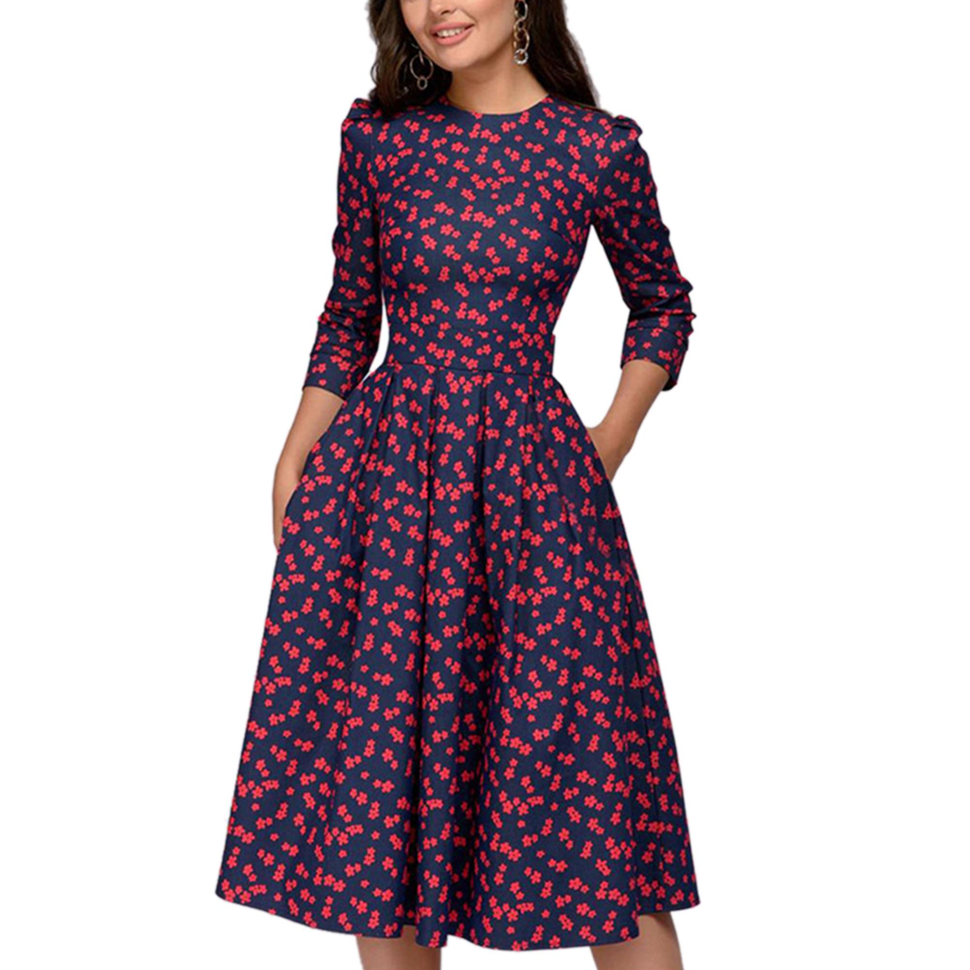 Merqwadd Merqwadd Womens Floral Printed Tunic Flared Midi Dress Walmart Com In 2021 Vintage Dresses Party Dress Long Sleeve Women S Fashion Dresses [ 2000 x 2000 Pixel ]