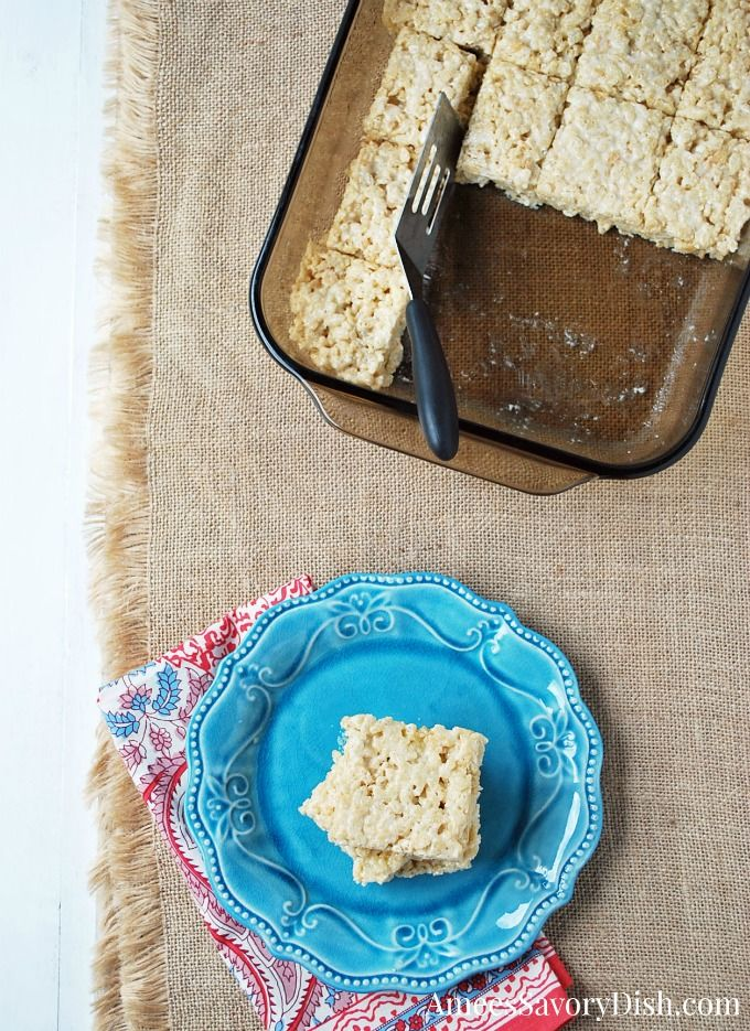 Protein Rice Crispy Treats #crispytreats