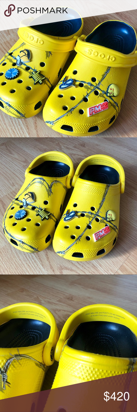 Post malone barbed wire dimitri crocs unisex (With images