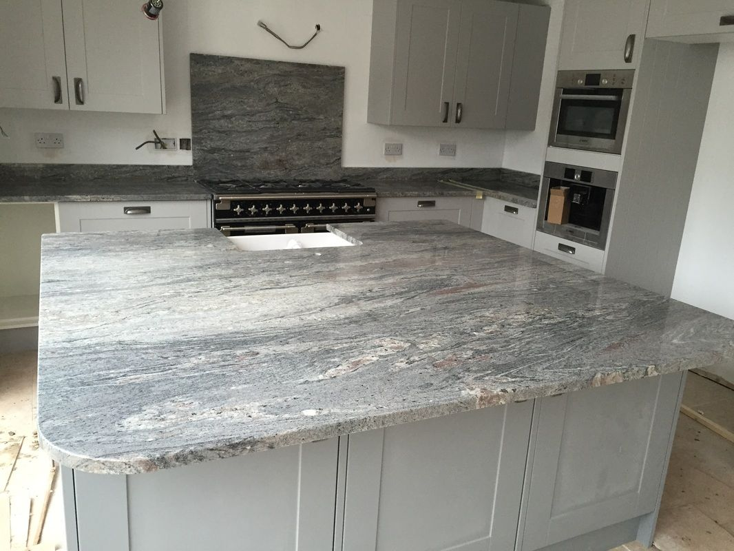 Installation Of Bianco Piracema Natural Granite Worktops By The