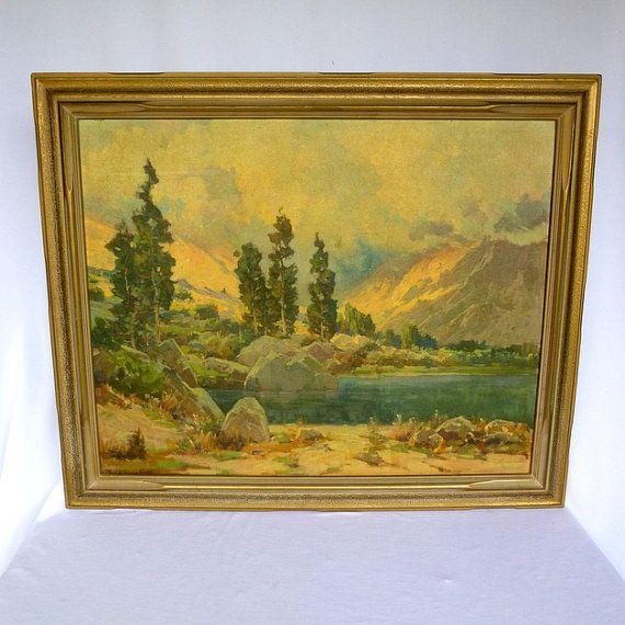 JACK WILKINSON SMITH Vintage Framed California Art/ Tilted Morning ...