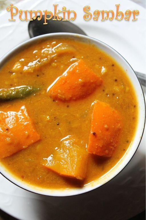 YUMMY TUMMY: Pumpkin Sambar Recipe / Poosanikai Sambar Recipe