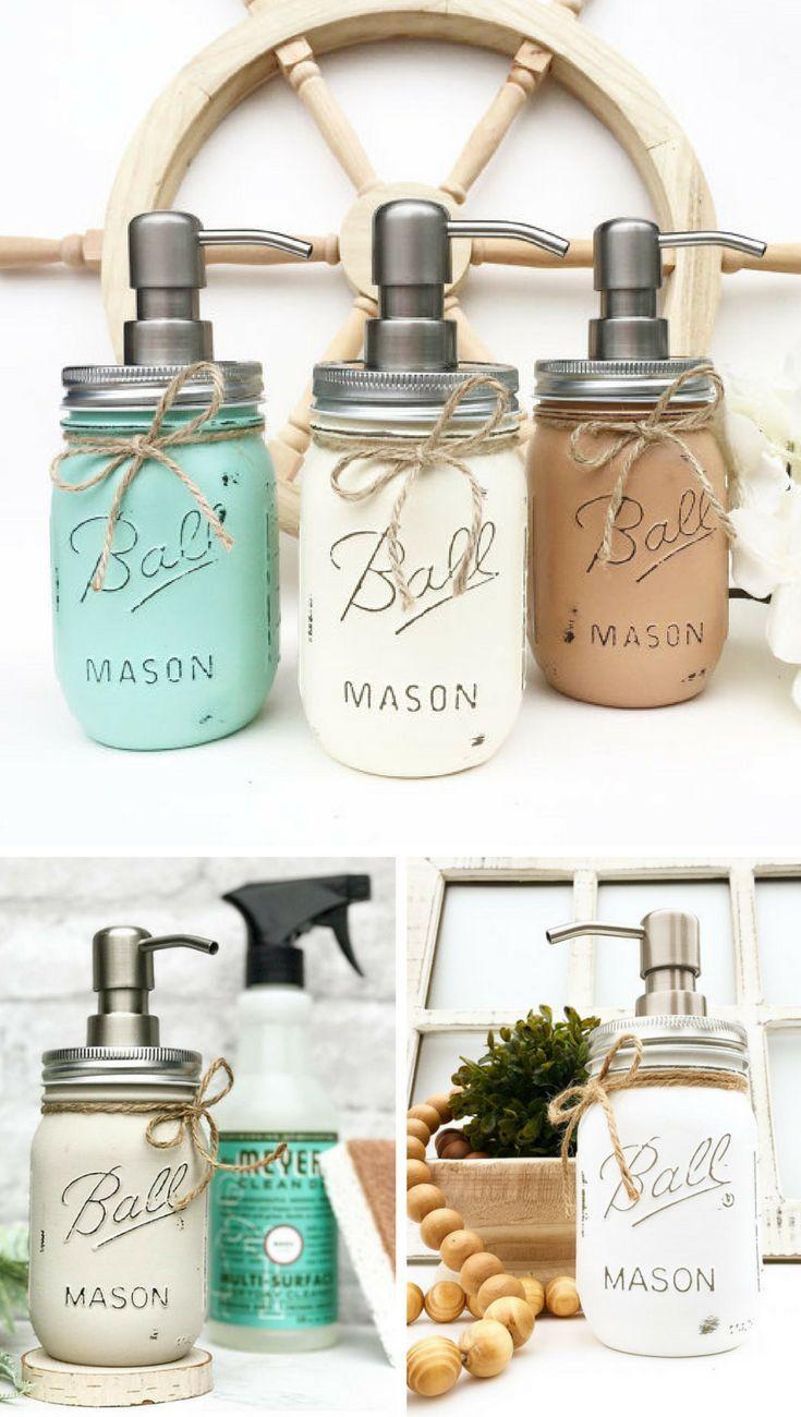 Farmhouse soap dispenser mason jar soap dispenser