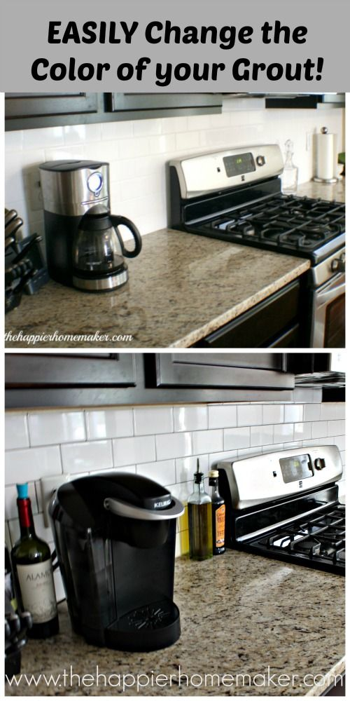 Easy Diy Change Of Grout Color A Subway Tile Update
