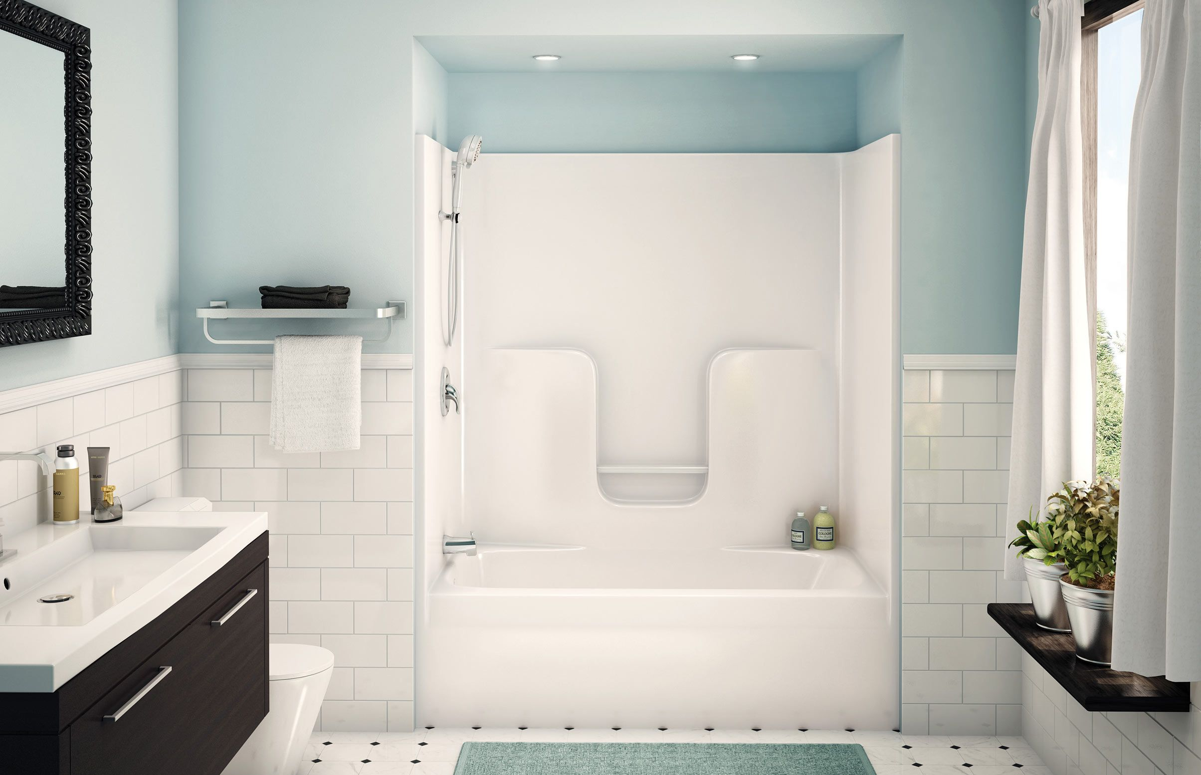 Fiberglass Bathtub Shower Combo | doccia/vasca | Pinterest | Bathtub ...