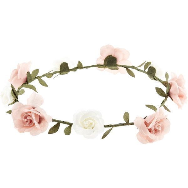 Bridesmaid Floral Flower Festival Forehead Headband Hair Garland Vine Pink Rose