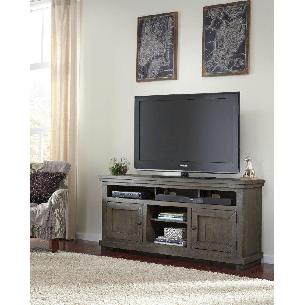 64 Inch Distressed Gray TV Stand Willow Ikea hemnes tv