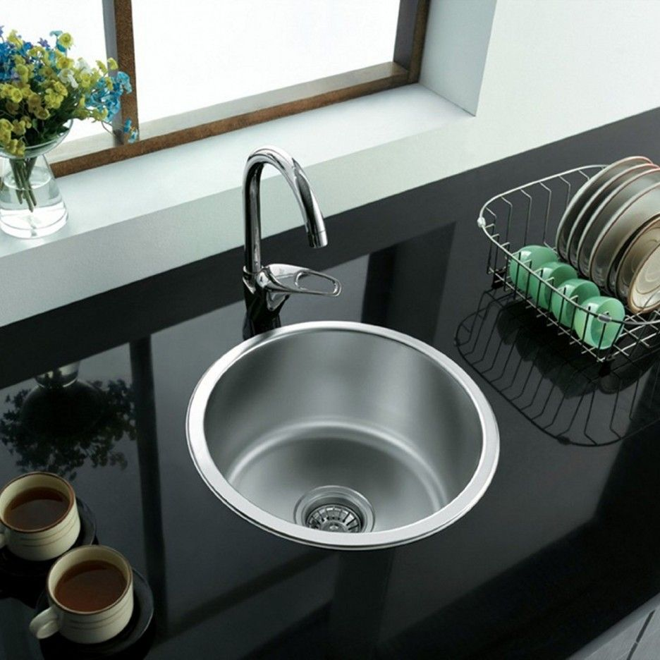 Single Bowl Kitchen Sink And Form A Circular Container Small Kitchen Sink Stainless Steel Kitchen Sink Single Bowl Kitchen Sink