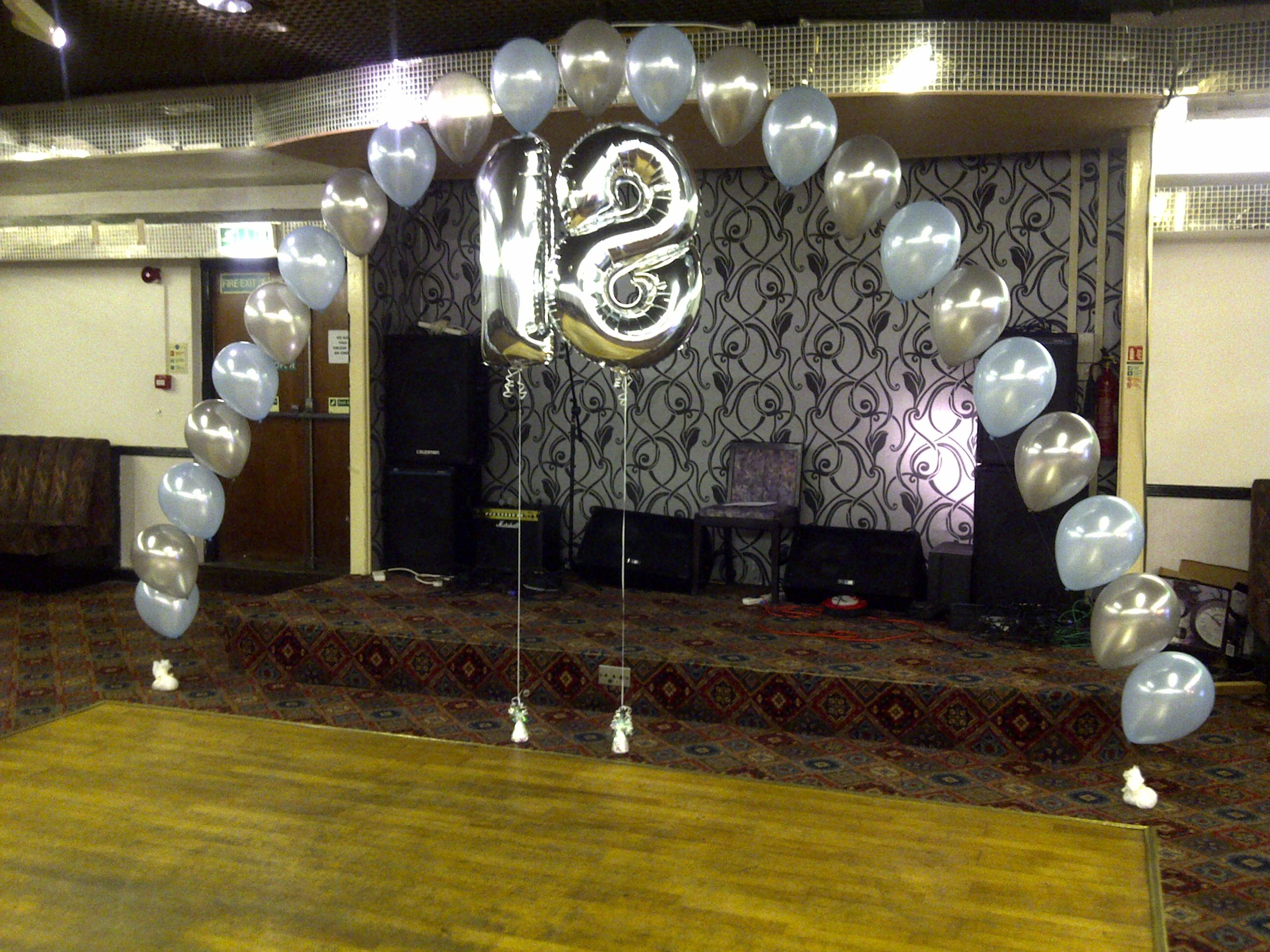Simple yet elegant balloon arch for 18th birthday party for 18th birthday decoration