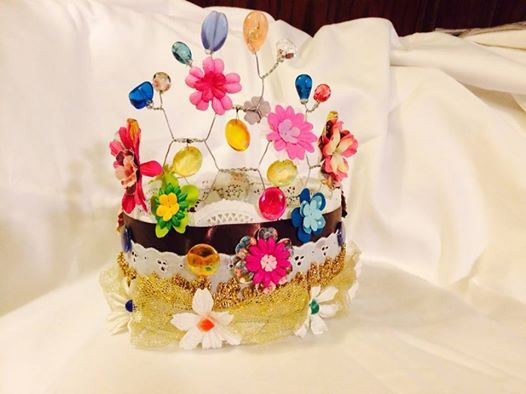 Crown for Girls Camp - made on a chicken wire base
