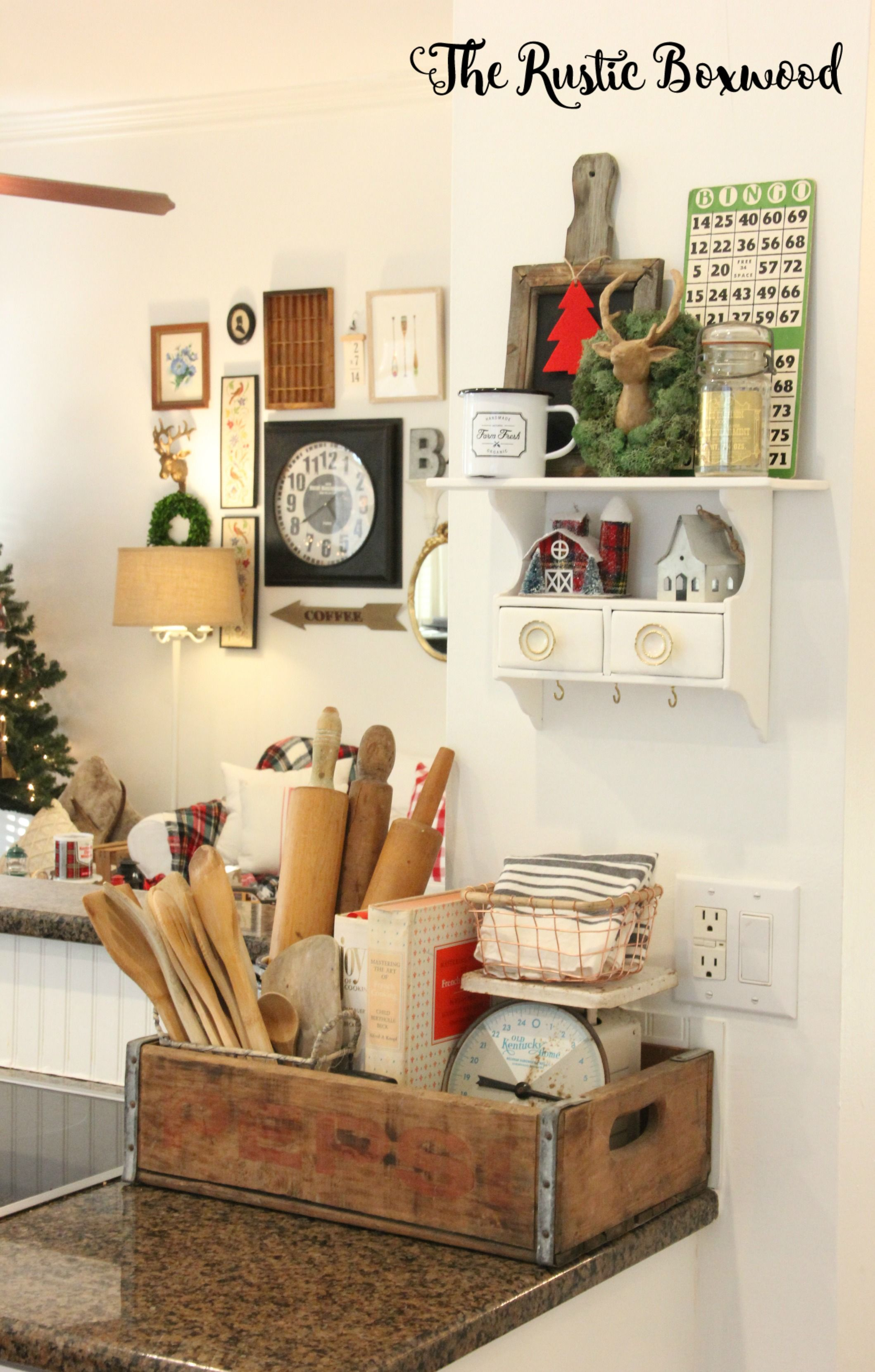 Farmhouse Storage Ideas The Rustic Boxwood Woodsy Decor Christmas