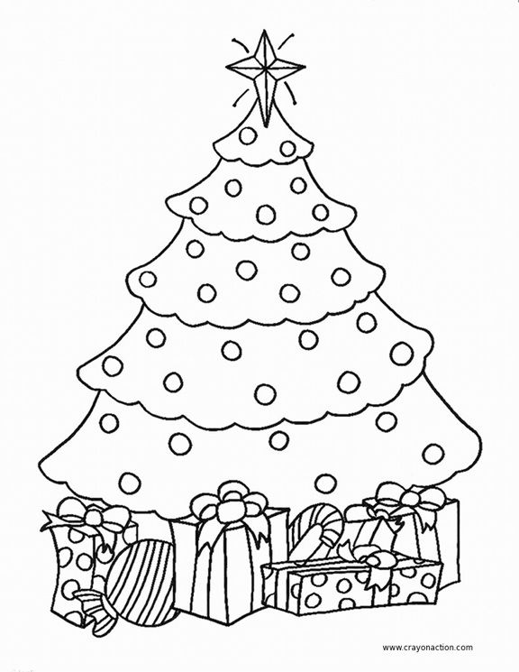 Christmas Tree Coloring Page Google Search With Images