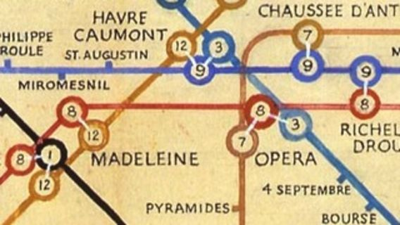 603 - When Harry Met Paris: Beck\'s Métro Map | Harry beck, London ...