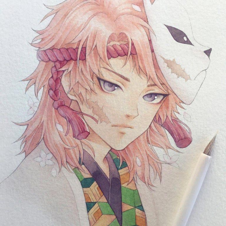 Photo of My watercolor fanart of Sabito!!