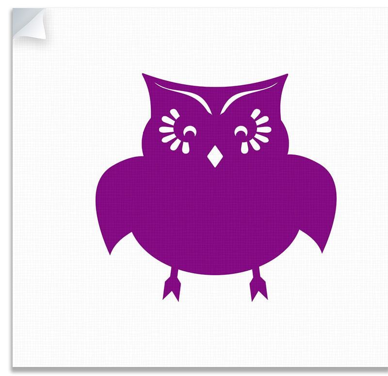 Owl I Children's Canvas Wall Peel