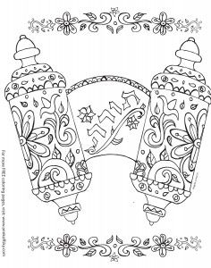 Share these Shavuot coloring pages from Ann Koffsky with