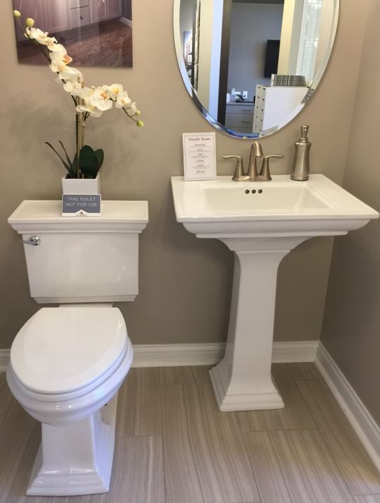 Memoirs Powder Room Pedestal Sink And Commode Powder Room Ideas