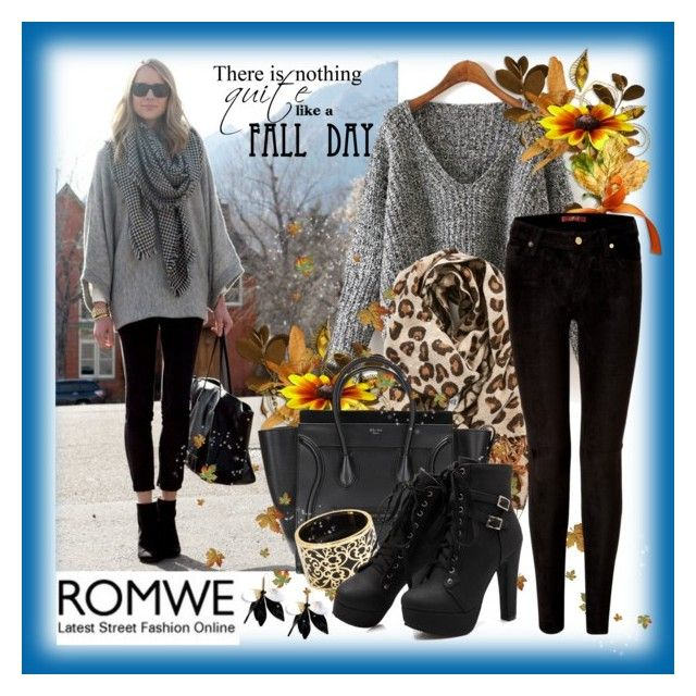 """Romwe: Grey Dolman Sweater"" by dressedbyrose ❤ liked on Polyvore featuring BP., Miriam Salat, 7 For All Mankind and Marni"