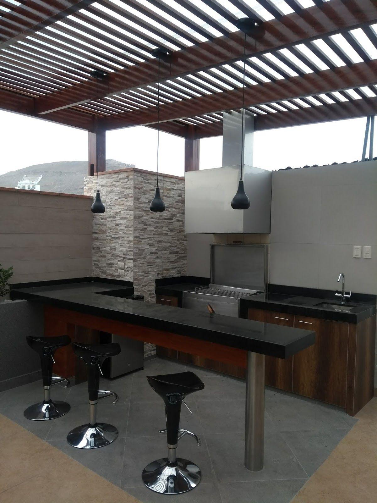 Una terraza en azotea tenemos un nuevo proyecto construido for Disenos de quinchos con piscinas