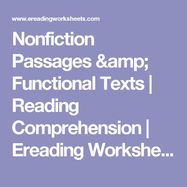 Nonfiction Passages Amp Functional Texts Reading Comprehension Ereading Worksh Nonfiction Passages Reading Comprehension Reading Comprehension Worksheets Suitable for beginners and low level elementary reading comprehension activity based on the most famous dog from japan hachiko. nonfiction passages amp functional