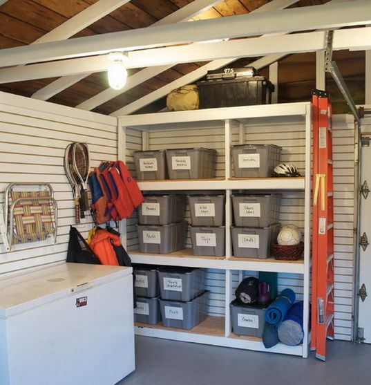 I like the matching and labeled bins 21 garage organization and i like the matching and labeled bins 21 garage organization and diy storage ideas hints solutioingenieria Image collections