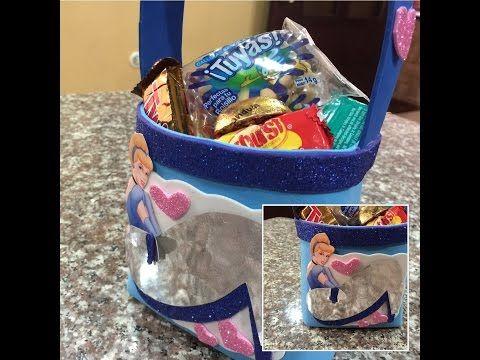 Como hacer un dulcero cenicienta, how to make party bag zingarella - YouTube