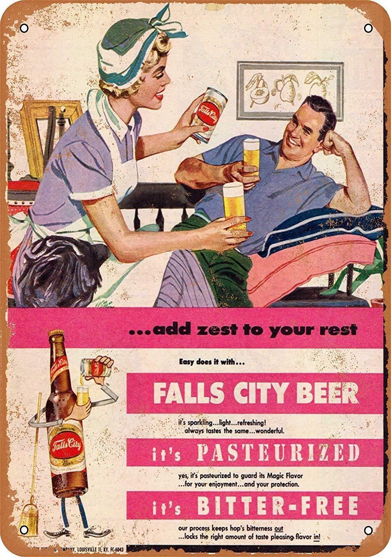"""FALLS CITY BEER  9/"""" x 12/"""" Sign"""