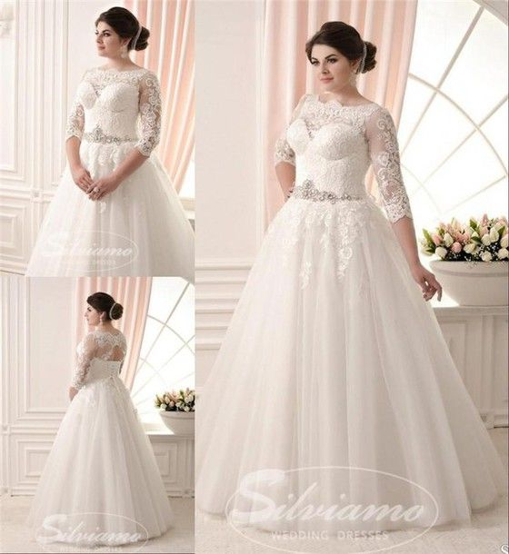 There Is 1 Tip To Buy This Dress Plus Size Wedding Es A Line Long Sleeve Lace Beaded Sash Boho Elegant