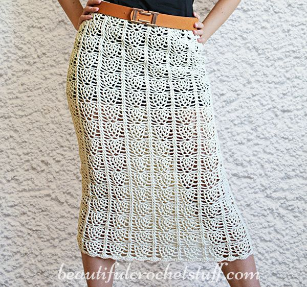 FREE CROCHET PATTERN! Pineapple Crochet Skirt (I\'d wear a slip under ...